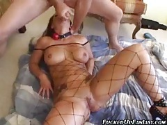 Submissive girl happily takes anal and a face fucking tubes