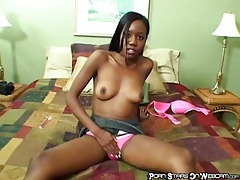 Black chick strips and uses a hot toy tubes
