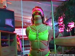 Girl is used in all three holes by her man tubes