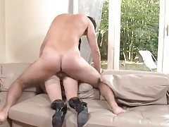 French girl in shiny boots fucked hard tube