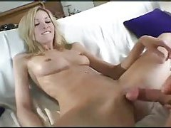 Perfect looking blonde in BJ and tease tubes
