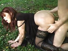 Sexy milf in boots fucked outdoors tubes