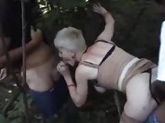 French mature gangbanged in the woods tubes