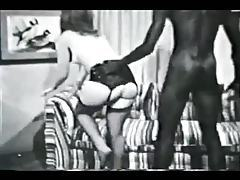 Vintage black and white interracial tubes