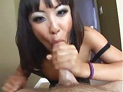 Tender Asian gives a great messy deepthroat BJ tubes