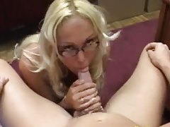 Blonde glasses cock slut Mary Carey fucked tubes