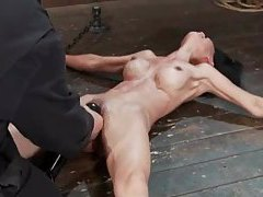Incredible Asian bound to the floor tubes