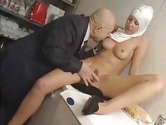Naughty nun played with by old guy tubes
