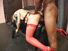 Black guy ass pounds a horny blonde tubes