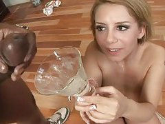 Guys prepare cum cocktail for cute blonde tubes