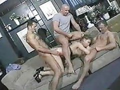 Group sex in a bar with slut tubes