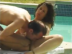 Hot foreplay poolside and sex indoors tubes