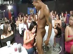 Male stripper sucked at big party tubes