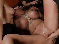 Tied up slut in the bar ass fucked tubes