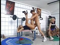 Orgy in the gym with horny whores tubes