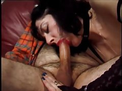 Thick wet lipstick on cocksucking mature tubes