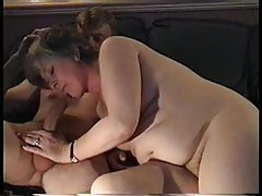 Chubby amateur mom masturbates and blows tubes