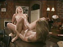 Lesbian pornstars strapon sex in a bar tubes