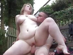 Fat babe banged as BF watches tubes
