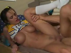 Big tits cheerleader sex in bed tubes