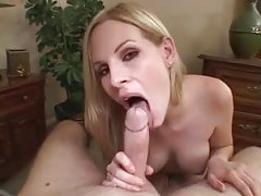 Pretty chick strips and sucks cock tubes