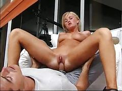 Large dick fucks her ass from behind tubes
