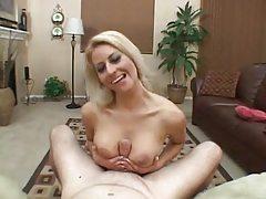 Hot big tits bikini girl gives a handjob tubes