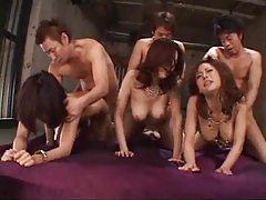 Japanese orgy with lots of cumshots tubes