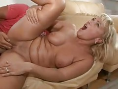 Seductive blonde mature nailed in box tubes