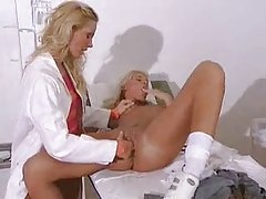 Blonde doctor and patient lesbian sex tubes