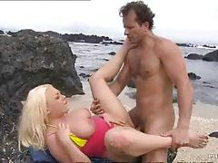 Curvy blonde hot sex on the beach tubes