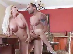 Big tits blonde takes a long cock in ass tubes