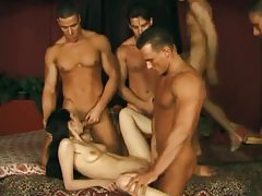 Muscular men gangbang a skinny Asian tubes