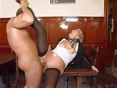 Grandma in black stockings fucked hard tubes