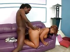 Huge ass black slut in panties nailed tubes