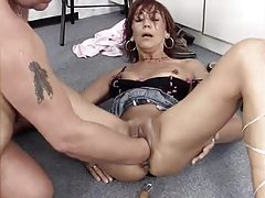 He fucks the bitch and fists her hard tubes