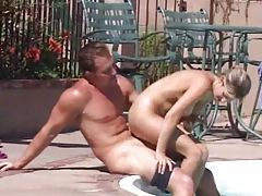 Blonde in the hot tub has good sex tubes