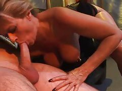 Heavily pierced blonde in corset fucked tubes