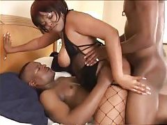 Black BBW and her two black lovers tubes