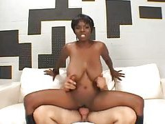 Fucking a black slut with big boobs tubes