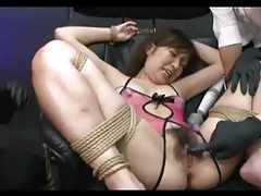 Spread Eagled And Toyed Asian tubes