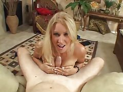 She gets down and gives you a hot handjob tubes