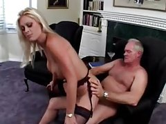 Pierced clit blonde fucked by old guy tubes