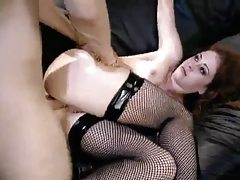 Chloe is so sexy and fucks well in fishnets tubes