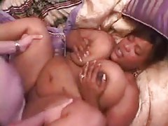 Fat black girl and two white guys tubes