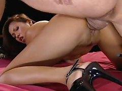 Slim pornstar Sabrine Maui has anal sex tubes