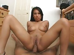 Slim Asian would like a big cock in her ass tube