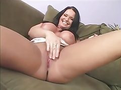 Milf in a tight dress strips and sucks his cock tubes