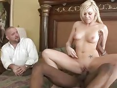Samantha Sin cuckolds her man with black cock tubes
