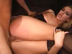 Hardcore sex with slut in satin corset tubes